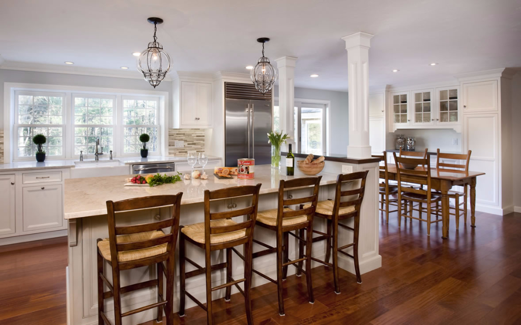 Classic Kitchen Design With Built-in Workspace  Norwell, Massachusetts