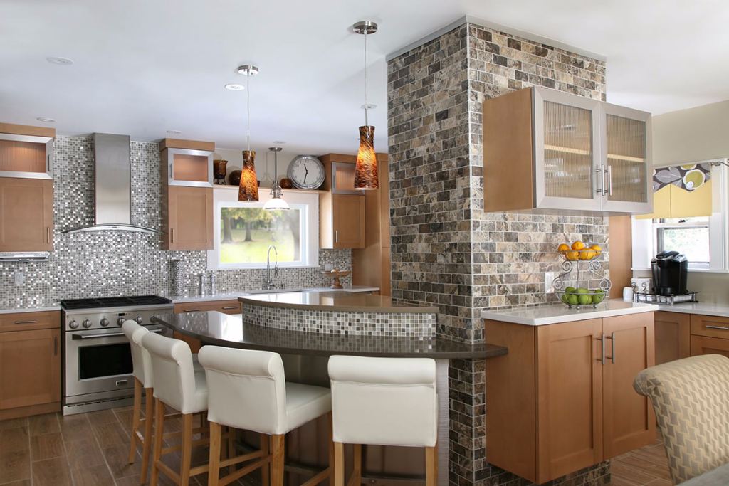 Modern Kitchen With Stone – Canton, Massachusetts