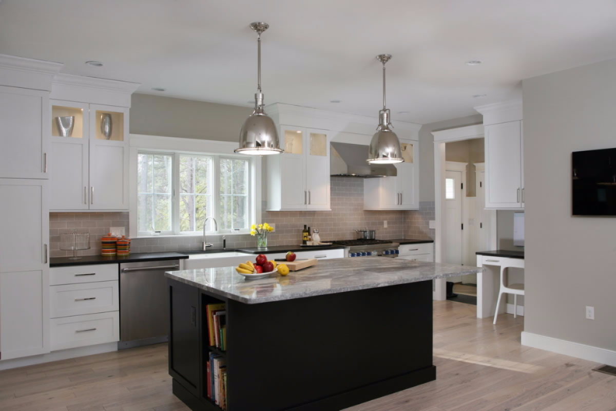 Contemporary Kitchen, Pantry and Bathroom Design  Hingham, Massachusetts